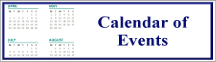 Rectangular button with an image of months on a calendar on the left and the words Calendar of Events on the right