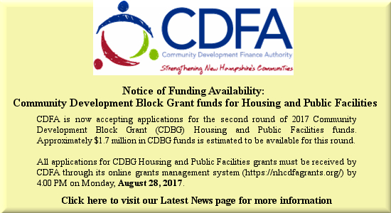 Community Development Block Grant Funding. Click to visit Latest News Page for more info