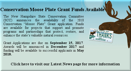 Conservation Moose Plate Grant Funds Available. Click to visit Latest News Page for more info